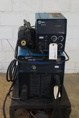 Miller Invision 456P MIG Welding Power Supply with Wire Feeder and Rolling Cart