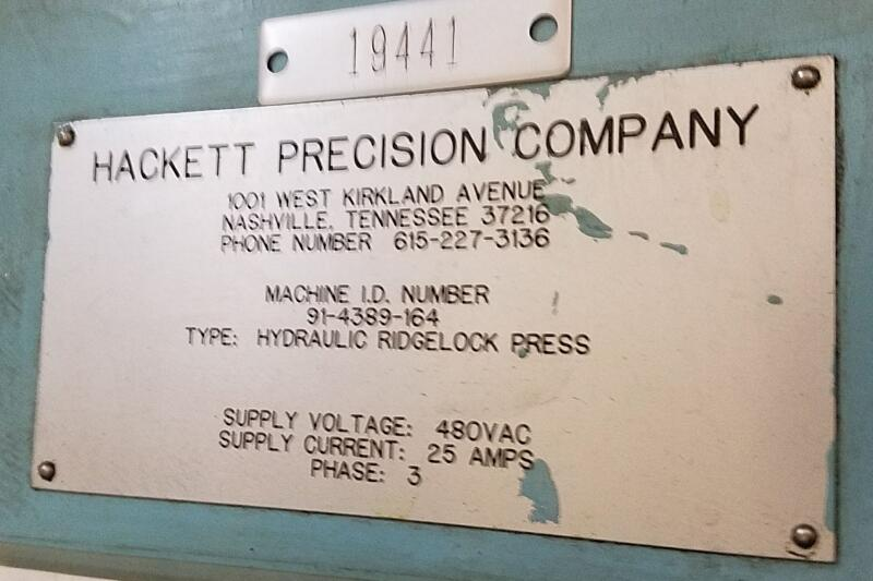 AM19441 - Hackett Hydraulic Ridgelock Press